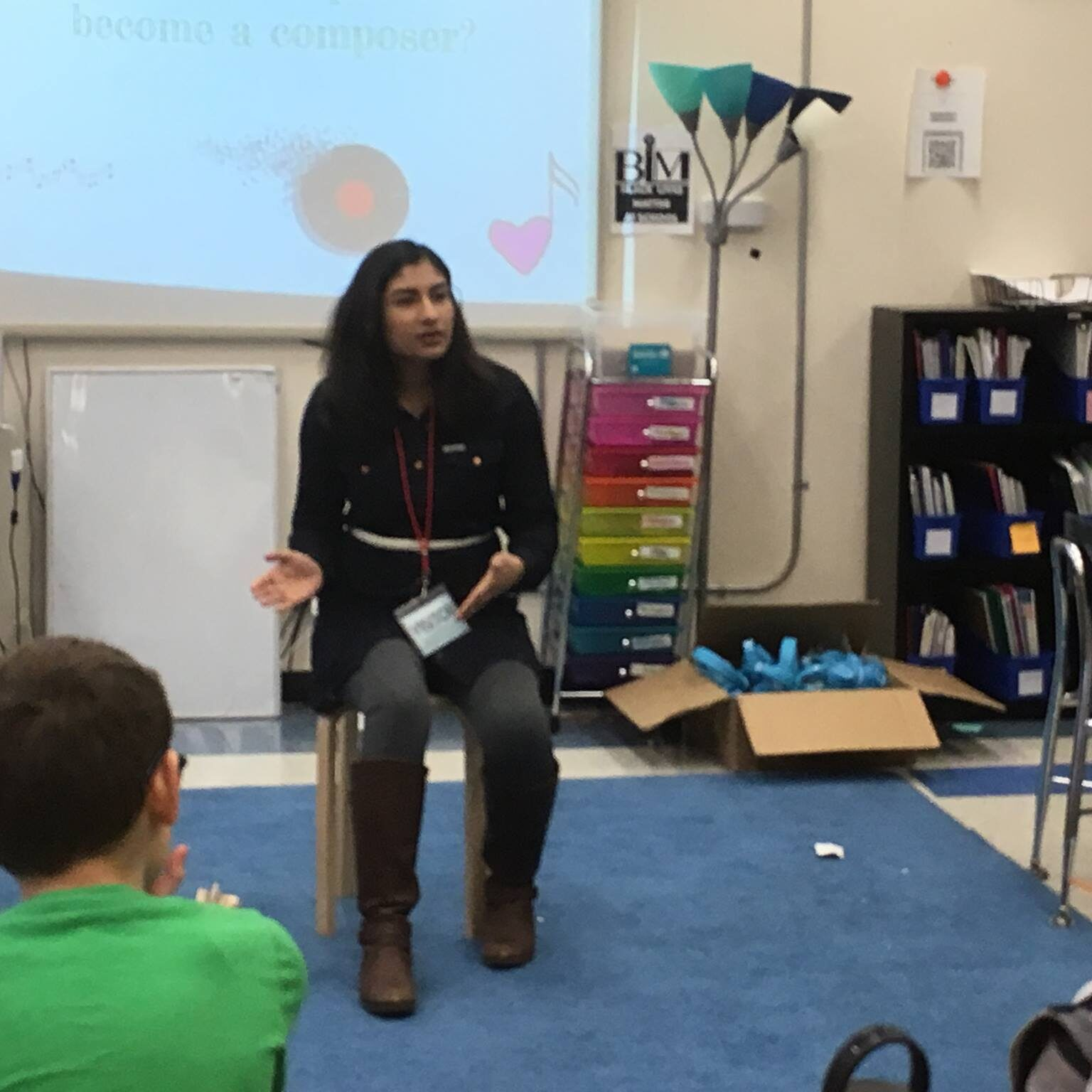 Nina Shekhar working with students